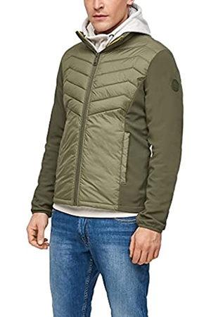 s.Oliver Herren Jacke mit Nylon-Steppung khaki XL