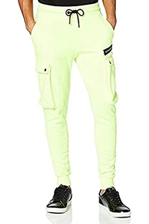 Gianni Kavanagh Herren Neon Yellow Brooklyn Joggers Trainingsanzug