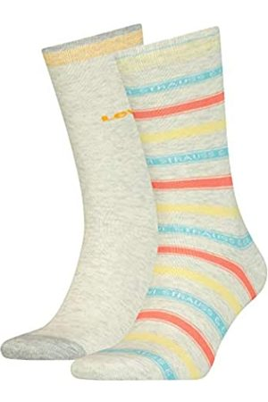 Levi's Unisex-Adult Label Stripe Regular Cut (2 Pack) Socks