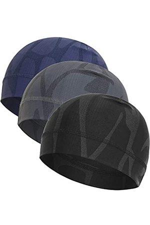 WSHSTS Helmfutter (3er-Pack) Eisseide kühlende Schädel Kappe, Outdoor atmungsaktive Beanie ideal zum Wandern, Laufen, Radfahren