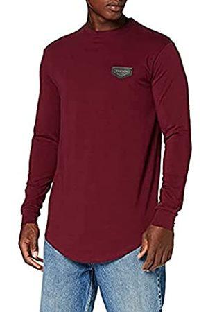 Gianni Kavanagh Herren Burgundy Core Long Sleeve Tee Unterhemd