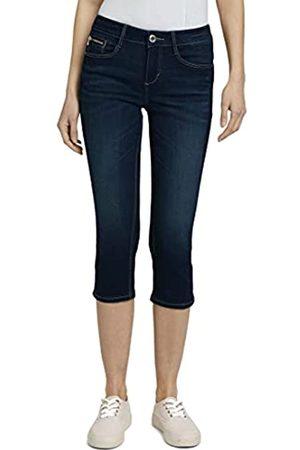 TOM TAILOR Damen Slim - Damen 1026123 Alexa Slim Capri Jeans, 10119-Used Mid Stone Blue