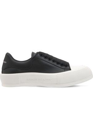 """Alexander McQueen Damen Sneakers - 45 Mm Hohe Leder-sneakers """"deck Plimsoll"""""""