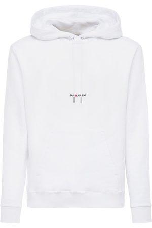 Saint Laurent Sweatshirt Aus Jersey Mit Kapuze Mit Logodetail
