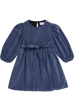 PAADE Damen Cocktailkleider - Kleid aus Samt mit Gürtel