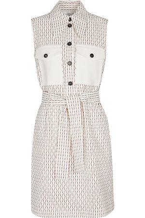 Victoria Victoria Beckham Damen Bedruckte Kleider - Kariertes Minikleid mit Baumwollanteil
