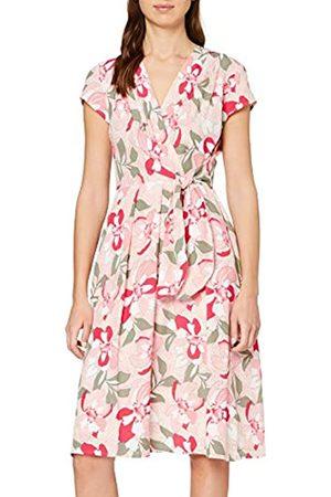 Taifun Damen Freizeitkleider - Damen Kleid mit Blumen-Print tailliert 38