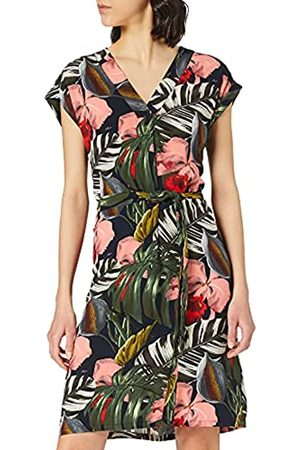 Mexx Womens Sleeveless Tropical Printed with Belt Casual Dress