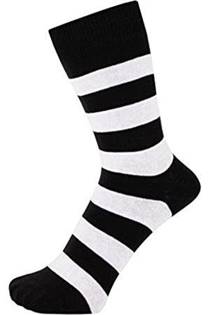 ZAKIRA Elegante Gestreifte Socken aus Feinster Gekämmter Baumwolle für Damen und Herren (Weiß/ )