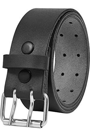 """PBF Herren Gürtel - Leather Belts for Men Heavy Duty 1.75 Inch Wide Double Prong Casual Leather Grommet Belt (30"""" - 32"""")"""
