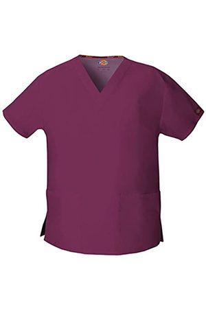 Dickies Damen Oberbekleidung - Damen EDS Signature Scrubs 86706 Missy Fit V-Ausschnitt Top - Rot - Groß