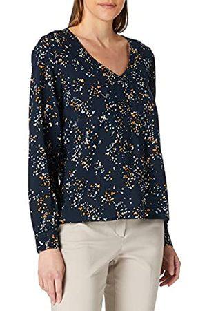 TOM TAILOR Damen Longsleeves - Damen 1024847 Longsleeve Bluse, 26430-Blue Dot Print