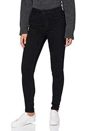 Noisy May Damen Nmcallie Chic Hw Jeans Vi071bl Bg Noos Hose, Black