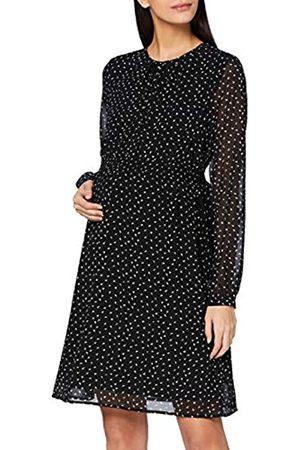Noppies Damen Dress nurs ls AOP Cromer Kleid, Black-P090