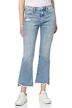 True Religion Damen New Halle Kick Flare Blue Denim Jeans