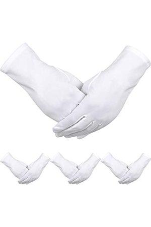 Sumind 4 Paar Erwachsene Uniform Handschuhe Spandex Handschuhe Kleid Handschuh für Polizei Formal Smoking Parade Kostüm ( B)