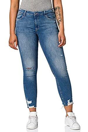 Esprit Damen Distressed Skinny Jeans, 902/BLUE MEDIUM WASH-New Version