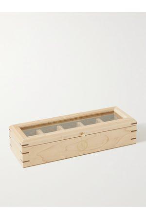 Wolf Herren Uhren - Analog/Shift Flatiron II Maple and Walnut Wood Five-Piece Watch Box