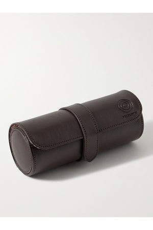 WOLF WM Full-Grain Leather Watch Roll