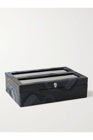Wolf Memento Mori Embroidered Vegan Leather Ten-Piece Watch Box