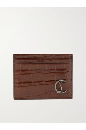 Christian Louboutin Herren Geldbörsen & Etuis - Croc-Effect Leather Cardholder