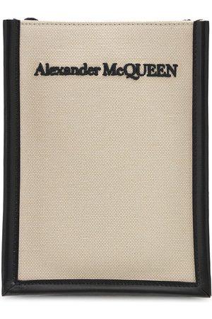 Alexander McQueen Umhängetasche Aus Baumwollcanvas Mit Logodruck