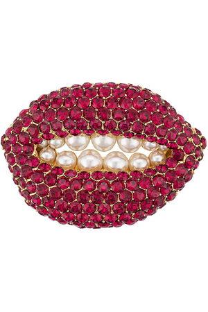 Katheleys Vintage Damen Broschen - 2002 'Ruby Lip' Brosche