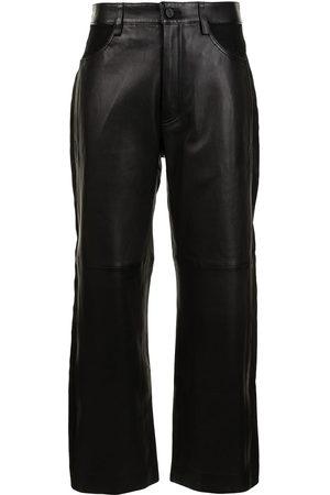 DION LEE Cropped-Hose aus Leder