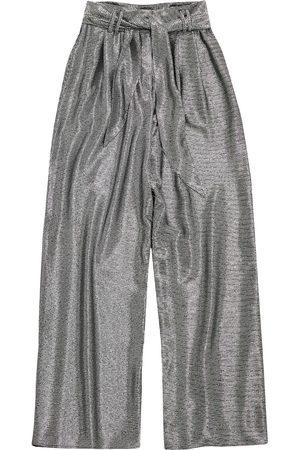 Christopher Kane Damen Weite Hosen - Lamé mesh wide leg trousers