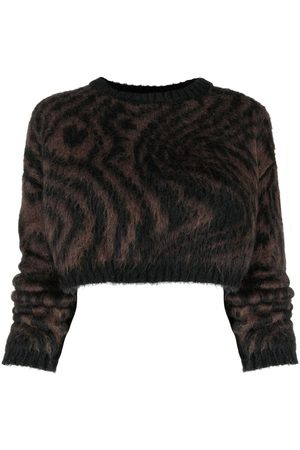 Opening Ceremony Cropped-Pullover mit Tiger-Print