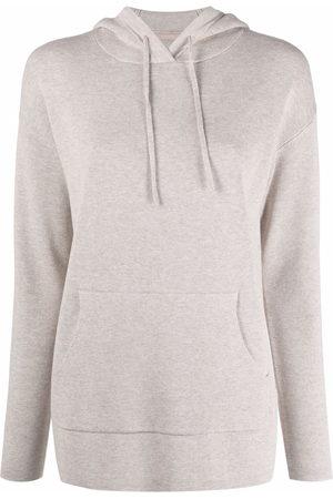 12 STOREEZ Damen Sweatshirts - Hoodie mit Kordelzug - Nude