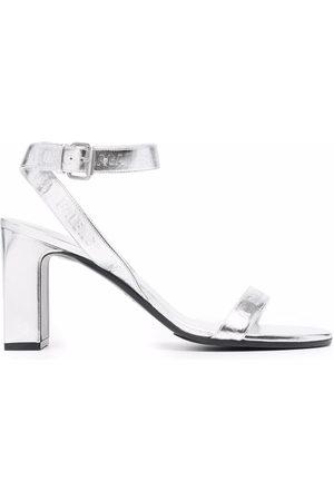 Balenciaga Sandalen im Metallic-Look
