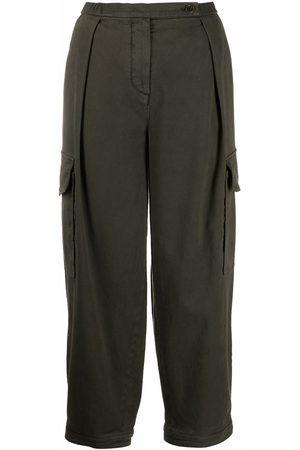 Aspesi Damen Capris - Cropped-Hose mit hohem Bund