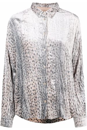FORTE FORTE Damen Blusen - Bluse mit Geparden-Print