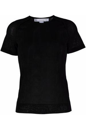 Y-3 Damen Shirts - T-Shirt mit rundem Ausschnitt
