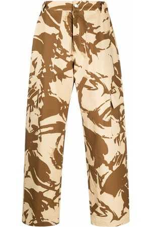 Paria Farzaneh Cargohose mit Camouflage-Print - Nude
