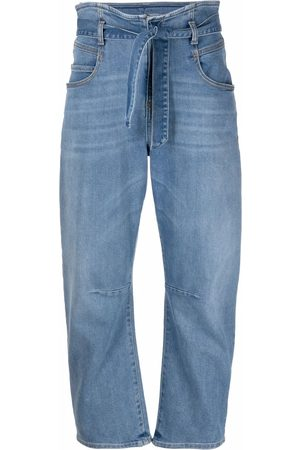 Pinko Tapered-Jeans mit Paperbag-Taille