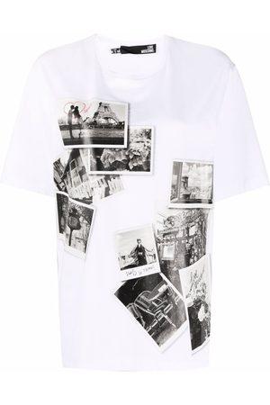 Love Moschino Damen Shirts - T-Shirt mit Paris-Fotos