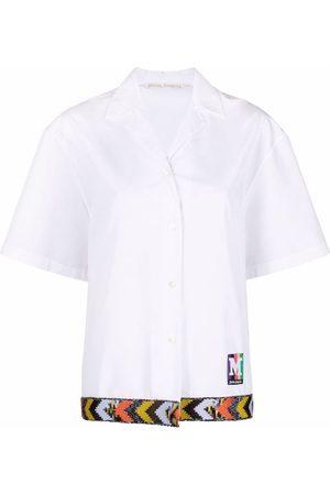 Palm Angels Damen Blusen - Bowling-Hemd mit Stickerei