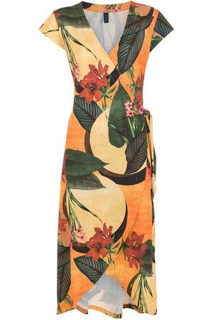 Lygia & Nanny Damen Freizeitkleider - Wickelkleid mit Blumen-Print