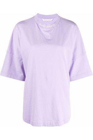 Palm Angels Damen Shirts - T-Shirt mit Stehkragen
