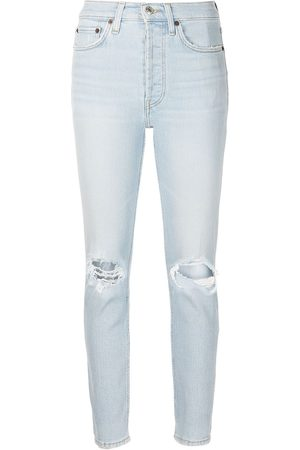 RE/DONE Taillenhohe Cropped-Jeans