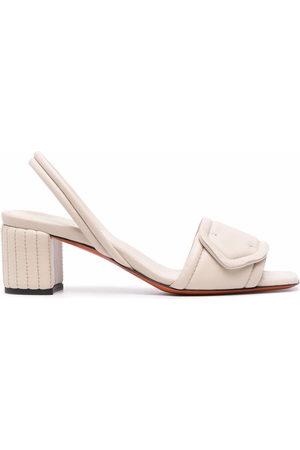 santoni Damen Sandalen - Leather slingback sandals - Nude