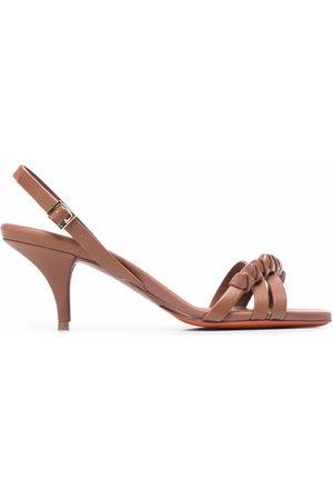 santoni Damen Sandalen - Leather slingback sandals