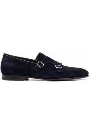 santoni Buckle-detail suede shoes