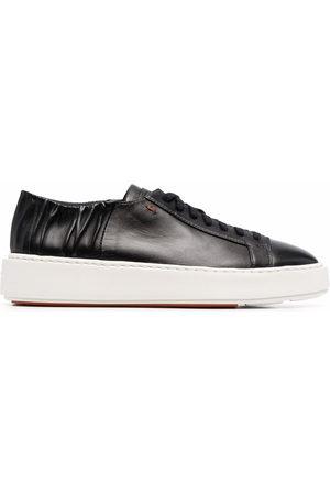 santoni Damen Sneakers - Ruched detail low-top sneakers