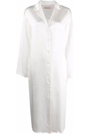 12 STOREEZ Long-sleeved silk shirt dress