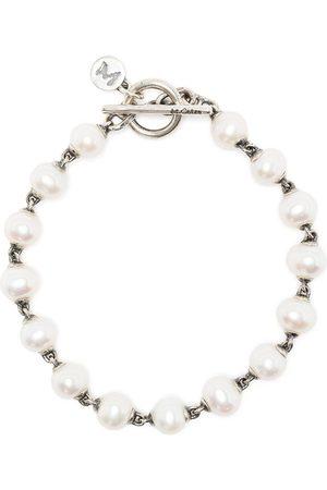 M. COHEN Herren Armbänder - Pearl-embellished chain bracelet