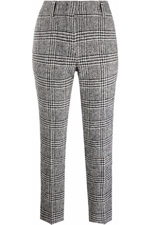 ERMANNO SCERVINO Cropped-Hose mit Hahnentrittmuster
