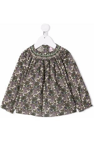 BONPOINT Bluse mit Blumen-Print - Nude